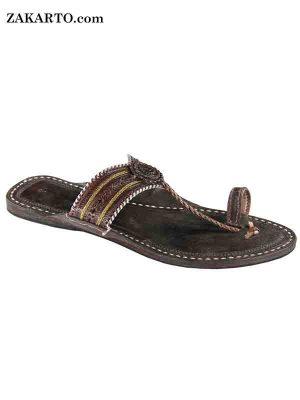 Dark Brown Color Handmade Ladies Sandal
