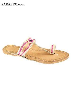 Double Eye Pink Lace Women Sandal