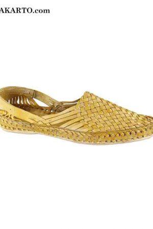 Light Yellow Attractive Handmade Kolhapuri Ladies Shoe