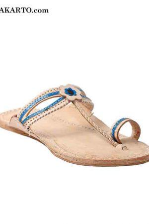 Double Eye Blue Lace Women Sandal