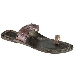 Dark Brown Color Handmade Leather Sandal