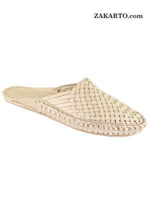 Natural Color Attractive Authentic Kolhapuri Ladies Shoe