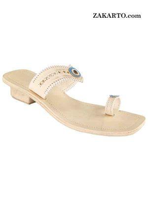 Natural Color Designers Sandal For Ladies