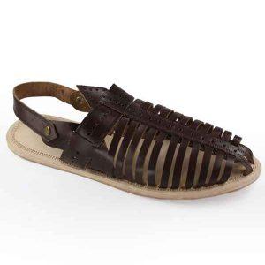 Breathtaking Brown Laces Kolhapuri Leather Shoe For Men