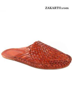 Splendid Tan Color Kolhapuri Half Shoe