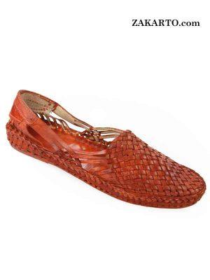 Noble Looking Tan Color Chatai Patta Kolhapuri Shoe For Men