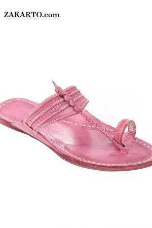 Superb Baby Pink Ladies Kolhapuri Chappal