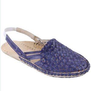 Lovely Dark Blue Back Strip Half Shoe For Men