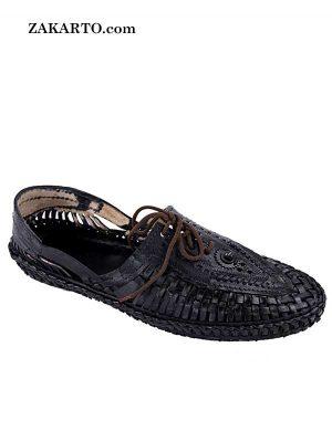 Astonishing Black Designers' Kolhapuri Shoe For Men