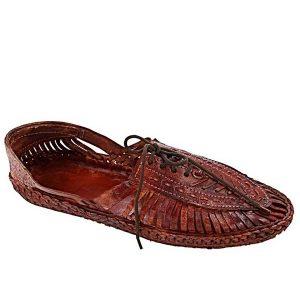 Astonishing Red Brown Designers' Kolhapuri Shoe For Men