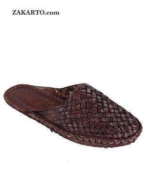 Nice-Looking Brown Half Kolahpuri Shoe For Women