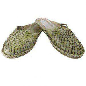 Lovely Looking Seaweed Flat Heel Half Kolahpuri Shoe For Women