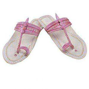 Gorgeous Baby Pink Flat Heel Ladies Kolhapuri Chappal