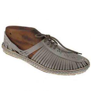 Overwhelming Grey Lace Style Kolhapuri Full Shoe