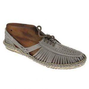 Awe-Inspiring Grey Lace Style Full Kolhapuri Shoe