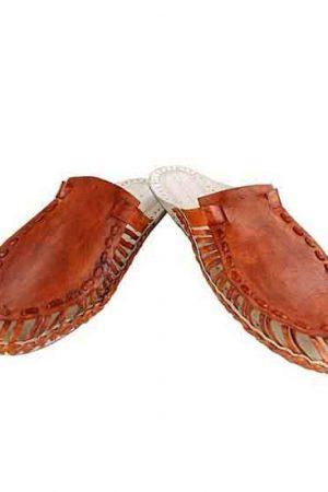 Awesome Tan Color Upper Kolhapuri Half Shoe