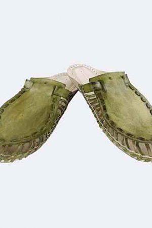 Magnificent Seaweed Upper Kolhapuri Half Shoe