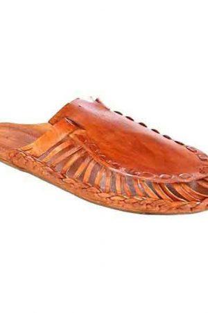 Wonderful Tan Color Kolhapuri Half Shoe
