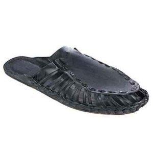 Breathtaking Black Kolhapuri Half Shoe