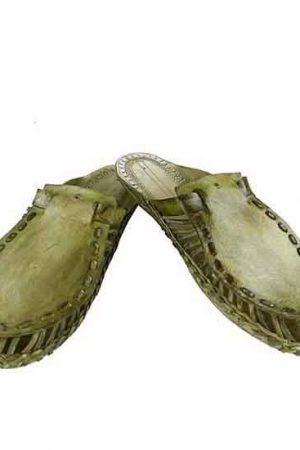 Fine-Looking Seaweed Kolhapuri Half Shoe