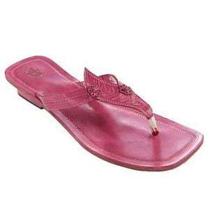 Splendid Rubin Leaf Design High Heel Ladies Chappal