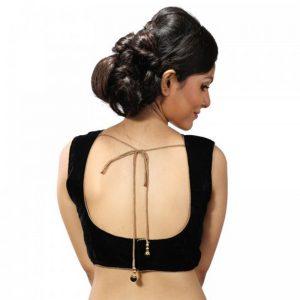 Black Velvet Stitched Readymade Blouse