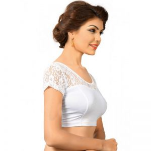 Silver Shimmer Plain Stitched Blouse