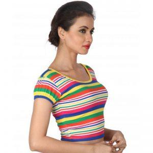 Multi Colour Cotton Plain Stitched Blouse