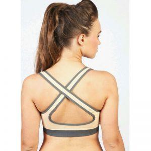 Skin Cotton Lycra Fitness Padded Stretch Sports Bra