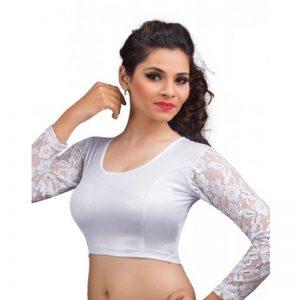 Silver Colour Cotton Plain Stitched Blouse