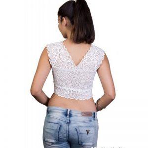 White Colour Cotton Plain Stitched Blouse