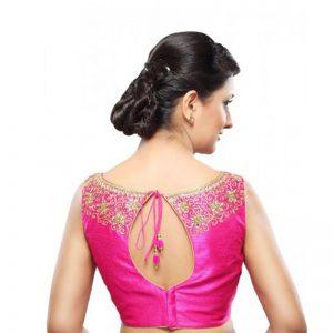 Pink Dupion Silk Zari Work Readymade Blouse