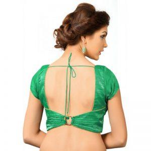 Green Fancy Fabric Plan Work Readymade Blouse