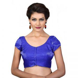 Royal Blue Fancy Fabric Plan Work Readymade Blouse