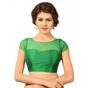 Green Net Plan Readymade Blouse