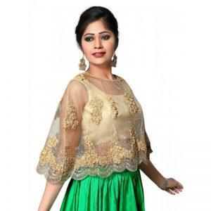Fancy Designer Blouse In Gold Colour