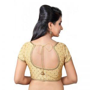 Gold Zari Embellished Dupion Silk Readymade Blouse