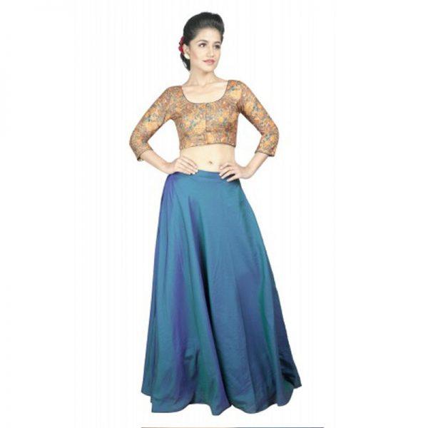 Multicolor Printed Kalamkari Readymade Blouse