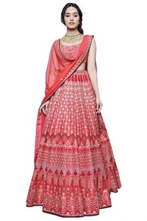 Shraddha Kapoor Taffeta Silk Red Replica Lehenga Choli
