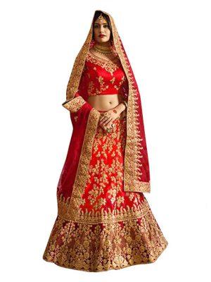 Anika Banglori Silk Red Replica Lehenga Choli