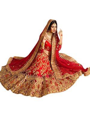 Buy Taffeta Silk Maroon Replica Lehenga Choli