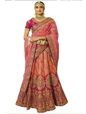 Buy Nylon Silk Multicolor Replica Lehenga Choli