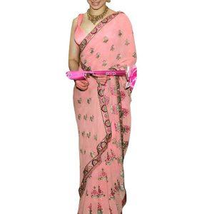 Tamanna Bhatia Banglori Silk Peach Replica Saree