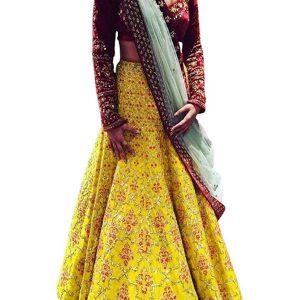 Buy Banglori Silk Multi color Replica Lehenga Choli