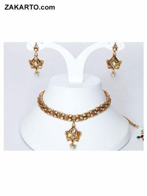 Unique Gold polish jewellery set For women