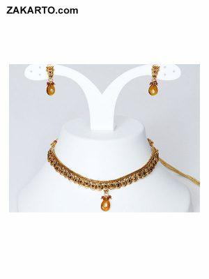 Golden Color Partyware Jewellery set
