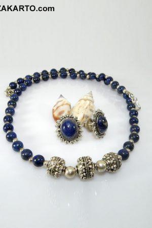 Lapiz Lazuli stone Unique Silver Set