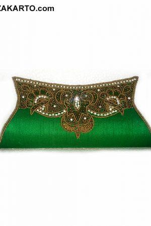Light Green Heavy handwork clutch purse