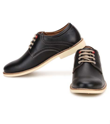 Zador Black Pu Casual Shoes