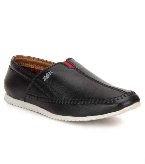 Sage Black Pu Casual Shoes